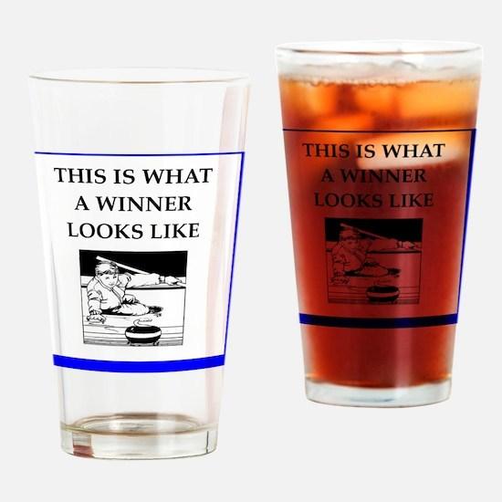 Unique Curler Drinking Glass