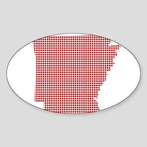 Red Dot Map of Arkansas Sticker