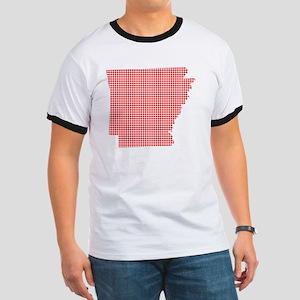 Red Dot Map of Arkansas T-Shirt