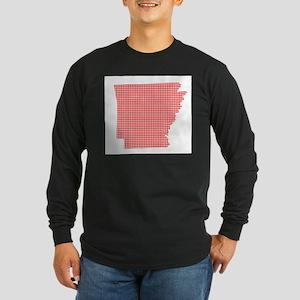 Red Dot Map of Arkansas Long Sleeve T-Shirt