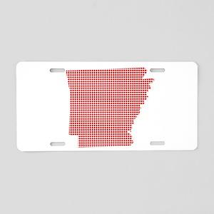 Red Dot Map of Arkansas Aluminum License Plate