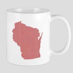 Red Dot Map of Wisconsin Mugs