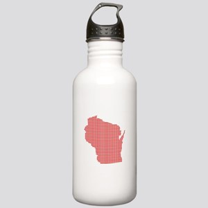 Red Dot Map of Wiscons Stainless Water Bottle 1.0L
