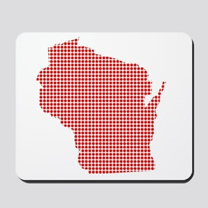 Red Dot Map of Wisconsin Mousepad