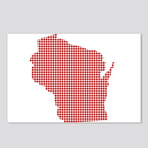 Red Dot Map of Wisconsin Postcards (Package of 8)