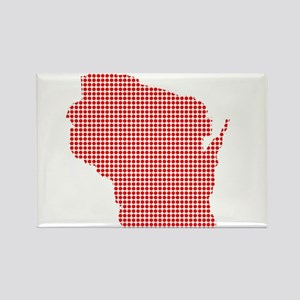 Red Dot Map of Wisconsin Magnets