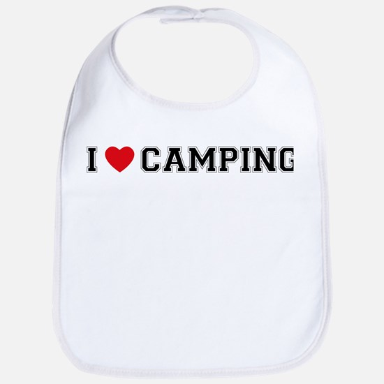 I Love Camping Bib