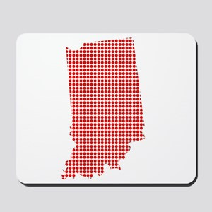 Red Dot Map of Indiana Mousepad
