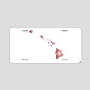 Red Dot Map of Hawaii Aluminum License Plate