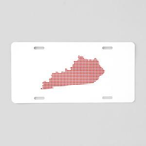 Red Dot Map of Kentucky Aluminum License Plate