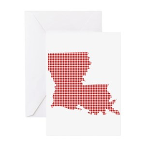 Louisiana Outline Greeting Cards - CafePress