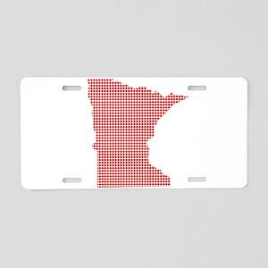 Red Dot Map of Minnesota Aluminum License Plate