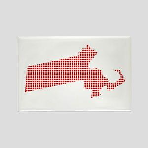 Red Dot Map of Massachusetts Magnets