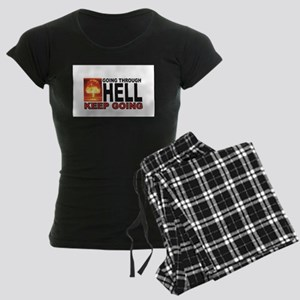 keep going dont stay in hell Women's Dark Pajamas