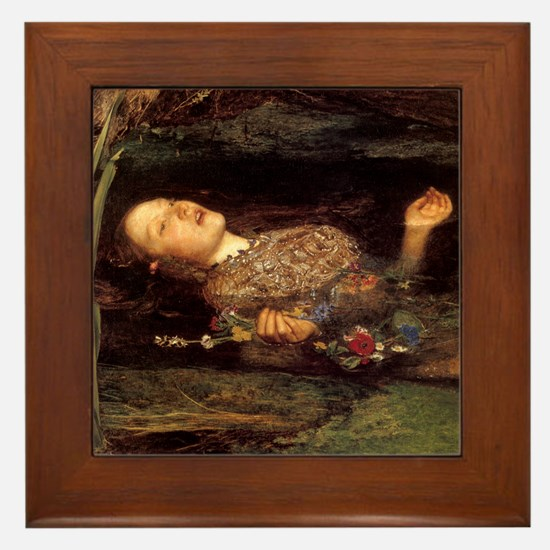 Millais Ophelia Framed Tile