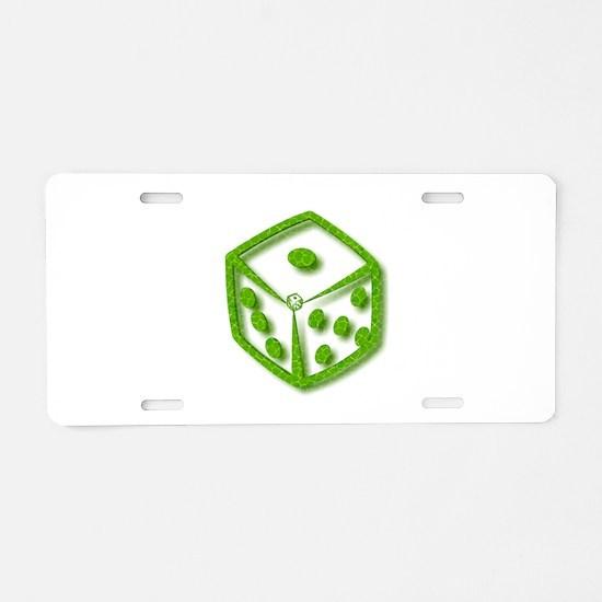 Box mockup Aluminum License Plate