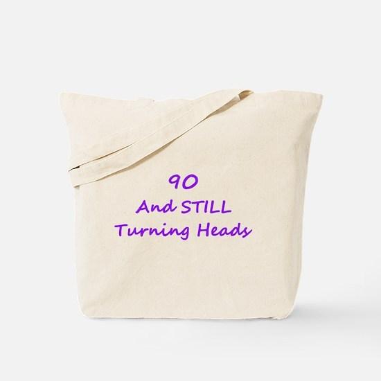 90 Still Turning Heads 1C Purple Tote Bag