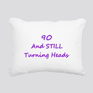 90 Still Turning Heads 2 Purple Rectangular Canvas