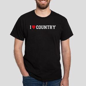 I Love Country Dark T-Shirt