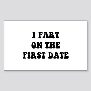 Fart On First Date Sticker