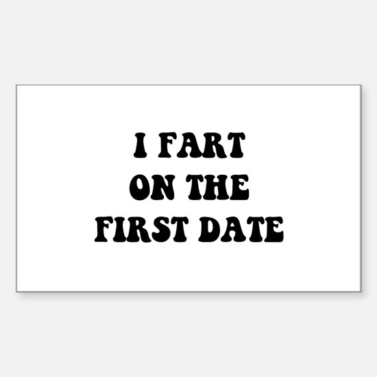Fart On First Date Decal
