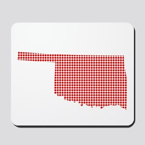 Red Dot Map of Oklahoma Mousepad