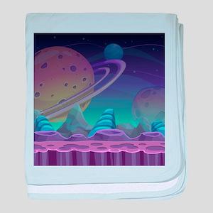 Alien Planet baby blanket