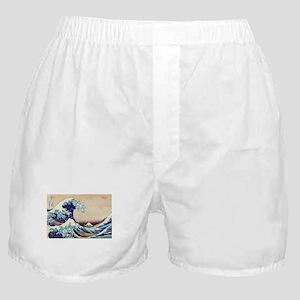 Great Wave Off Kanagawa Boxer Shorts