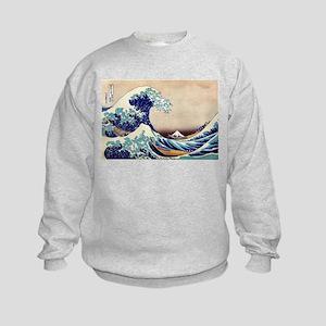 Great Wave Off Kanagawa Kids Sweatshirt