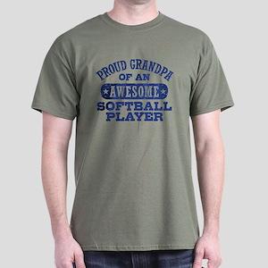 Proud Softball Grandpa T-Shirt