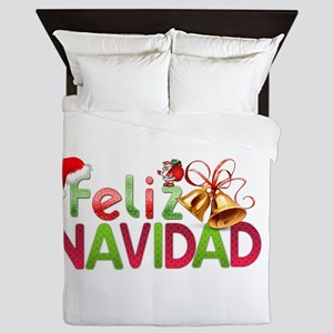 Feliz Navidad Queen Duvet