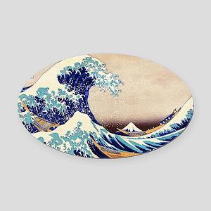 Great Wave Off Kanagawa Oval Car Magnet