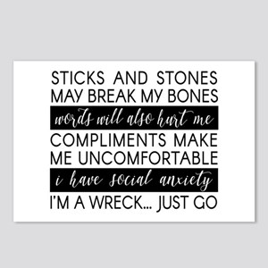 Sticks And Stones And... Postcards (package Of 8)