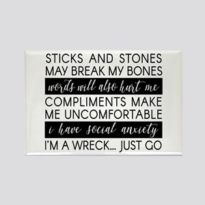 Sticks And Stones And... Anxiety Magnets