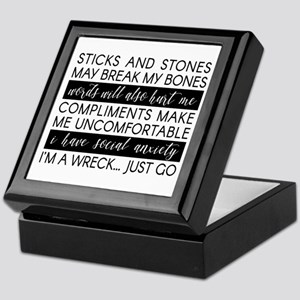 Sticks and Stones and... Anxiety Keepsake Box