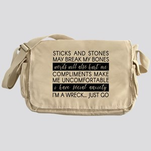Sticks And Stones And... Anxiety Messenger Bag