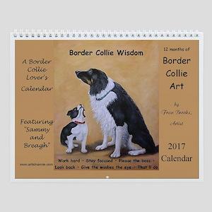 Border Collie Wisdom Calendar 2017 Wall Calendar