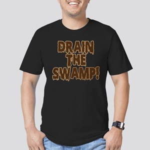 DRAIN THE SWAMP! Men's Fitted T-Shirt (dark)