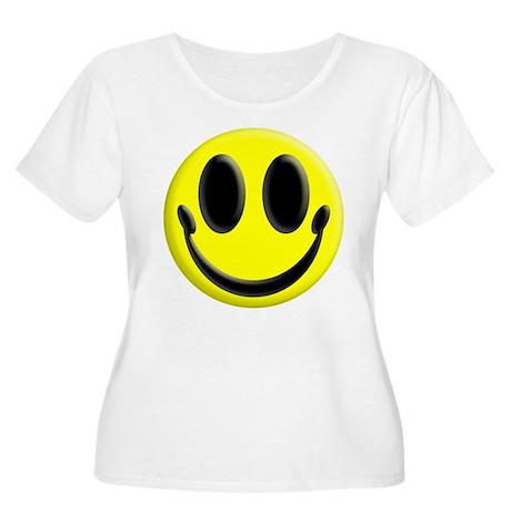 Smiley Face Women's Plus Size Scoop Neck T-Shirt