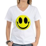 Smiley Face Women's V-Neck T-Shirt
