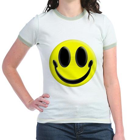 Smiley Face Jr. Ringer T-Shirt