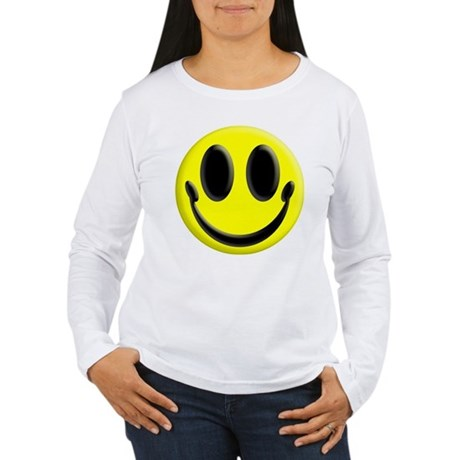 Smiley Face Women's Long Sleeve T-Shirt