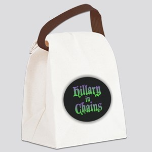 Hillary in Chains Canvas Lunch Bag