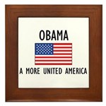 Obama Flag Framed Tile