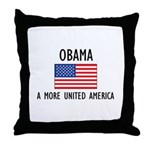Obama Flag Throw Pillow