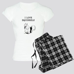 I Love Squirrels Women's Light Pajamas