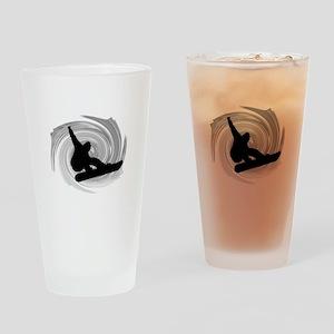 SNOWBOARD Drinking Glass