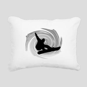 SNOWBOARD Rectangular Canvas Pillow