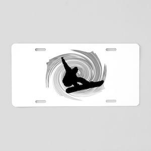 SNOWBOARD Aluminum License Plate