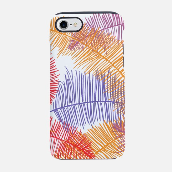 Coloured Feathers iPhone 8/7 Tough Case